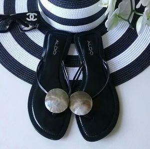 Aldo | Abalone Shell Sandals